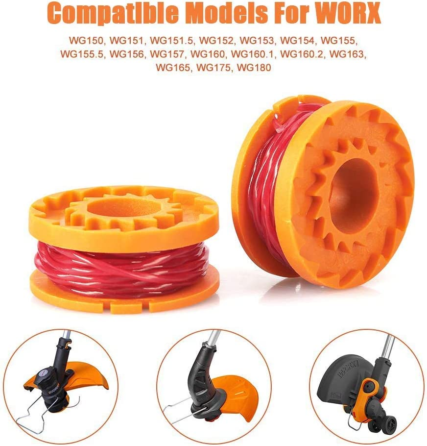 14 Pack Replacement Trimmer Spool Line,Edger Spool Line for Worx WA0010 (12 Spool for Worx WA0010): Home & Kitchen