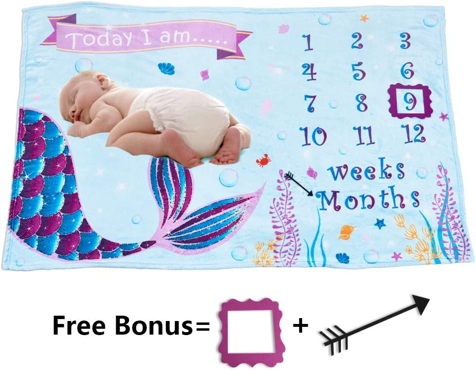 Photography Backdrop with Props Soft Flannel Nursery Bed Blankets for Boys Newborn Baby Shower Gift Blankets WERNNSAI Dinosaur Baby Monthly Milestone Blanket