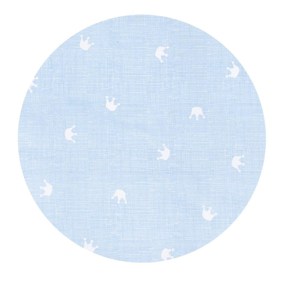 80 x 80 cm Tr/äumeland TT12403 Bettw/äsche Krone 2-teilig blau