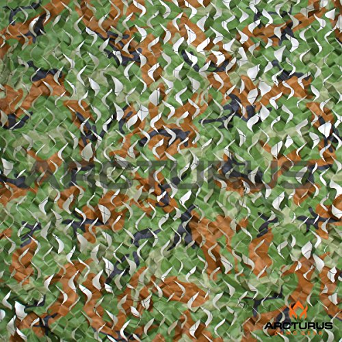 - Arcturus 10' X 10' Camo Nets - 300D Heavy Duty Woodland Camouflage Netting with Mesh Support Grid