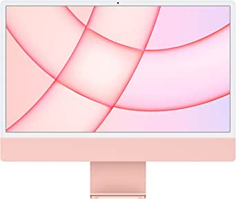 New Apple iMac (24-inch, Apple M1 chip with 8‑core CPU and 8‑core GPU, 8GB RAM, 256GB) - Pink