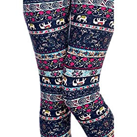 - 61Pg2FXKqeL - VIV Collection Print Brushed Ultra Soft Cropped Capri Leggings Regular and Plus (Sizes XS – 2XL) Listing 1