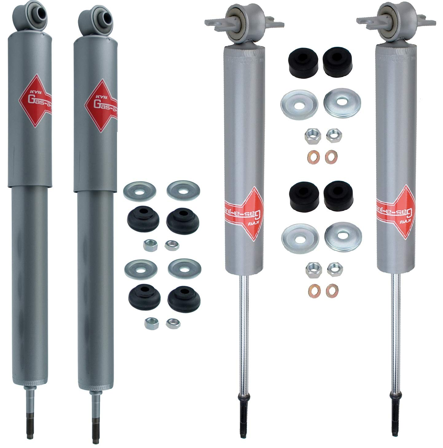 NEW Front /& Rear Shock Absorbers Kit KYB Gas-a-Just for Mercedes W126 C126