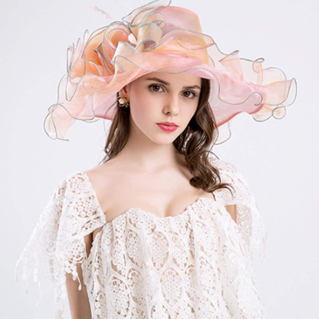 Womens Sun Hat Flower Church Kentucky Derby Bridal Party Wedding Hat