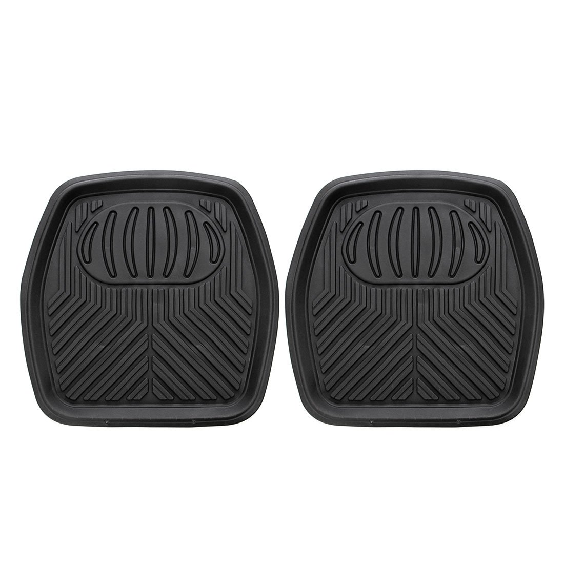 2pcs Semi Custom Trimmable Universal Fit Mat for Car Van /& Trucks Beige SUV Copap Front Rubber Floor Mats