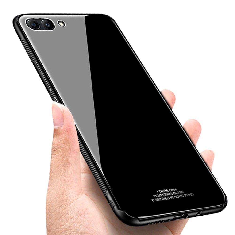 Surakey Compatible Coque Huawei Honor View 10 Housse Etui en PC Plastique Dur Hard Coque Arri/ère en Verre Tremp/é Anti,rayures TPU Bumper Silicone Housse Etui Couleur Pure Hybride Case
