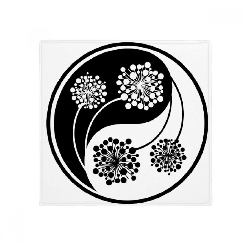 DIYthinker Buddhism Buddhist Yin-Yang Flower Design Anti-Slip Floor Pet Mat Square Home Kitchen Door 80Cm Gift