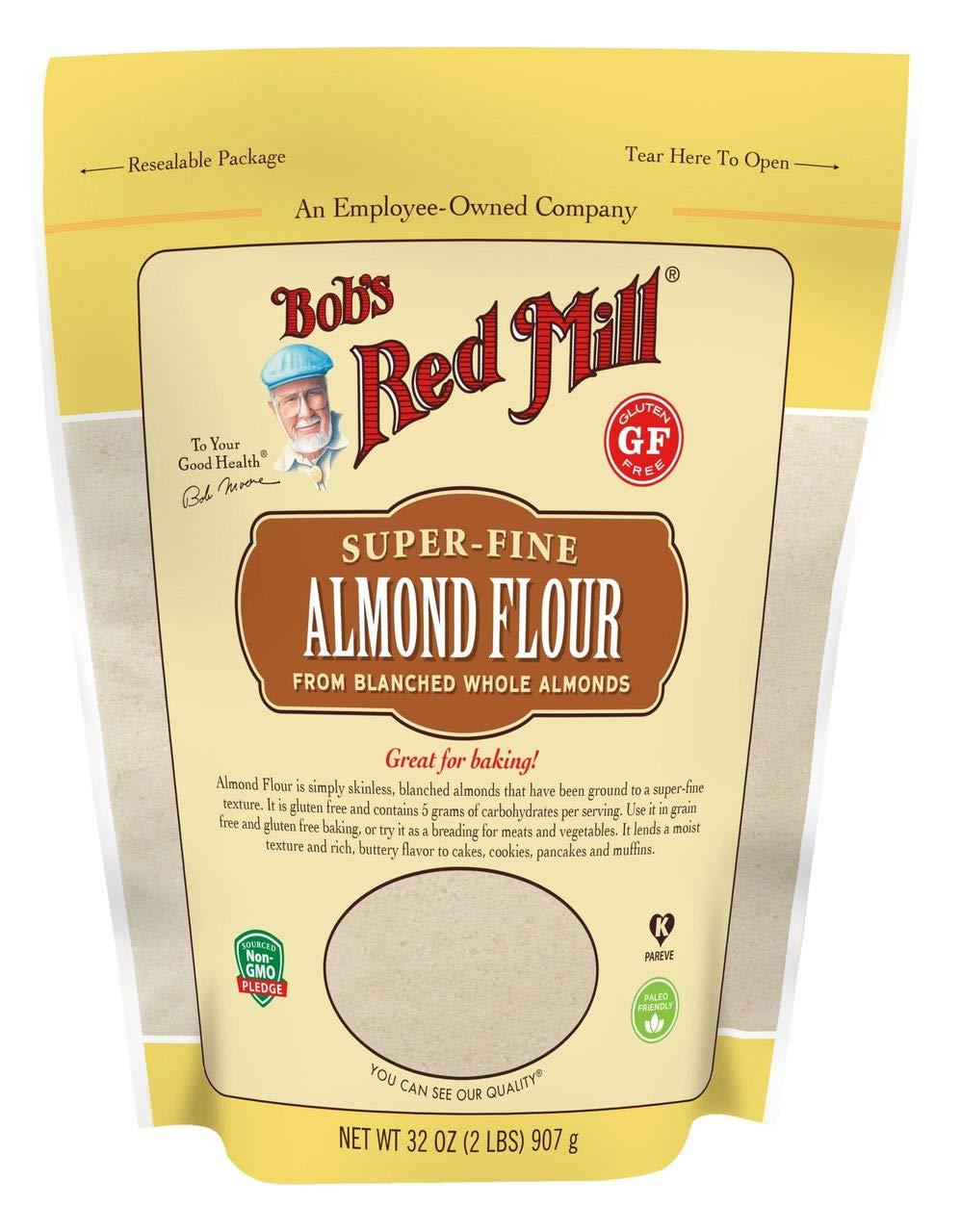 Producto de la harina de almendras súper fina Bob's Red Mill, 2 lbs.