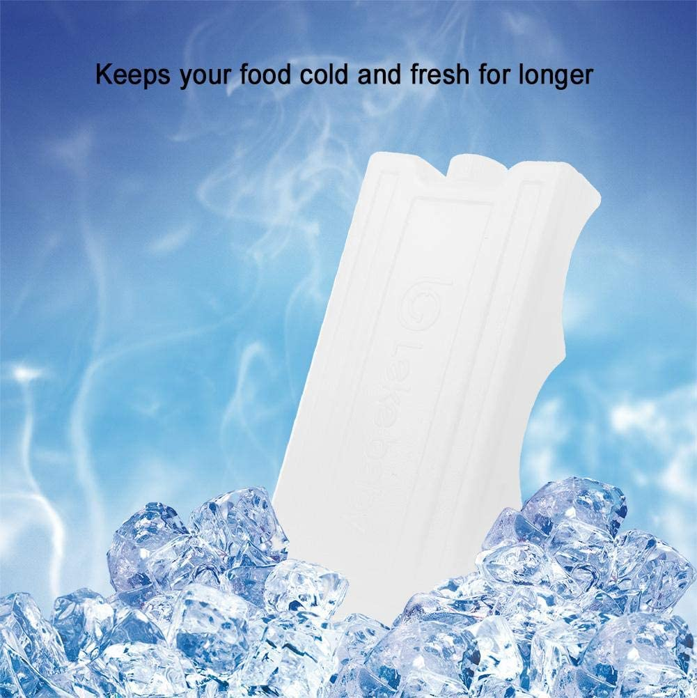 Blue Double-Sided Contoured Long Lasting Ice Packs Resuable Freezer Packs Double-Sided Contoured Shaped Fits Around Breastmilk Bottles for Breast Milk Storage Can Coolers Lunch Box Keep Fresh 600ml