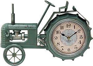 Primitive Collections Farmhouse tractor metal clock Hang or sit desktop