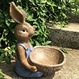 ZHAS American Countryside Pastoral Cute Bunny Ashtray Animal Decoration Ashtray furnishings, 20 24CM