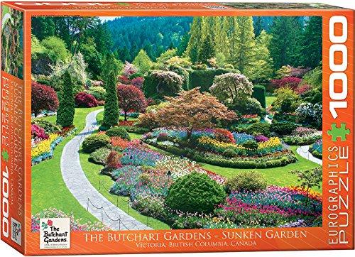 EuroGraphics Butchart Gardens - Sunken Garden Jigsaw Puzzle - Shops Victoria Gardens