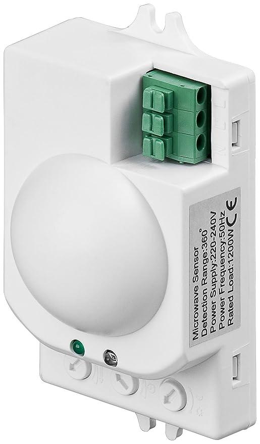 Detector de movimiento con sensor de microondas por radar de ...