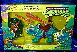 Amazon Com Teenage Mutant Ninja Turtles Cave Turtle Leo And Dingy Dino 4 Quot Figure Set Toys Amp Games