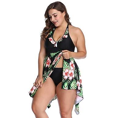 Amazon.com: Traje de baño de nailon para mujer, diseño de ...