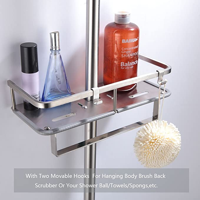 Zongsi Duschablage Duschstangen Multifunktions Ablage Badezimmer