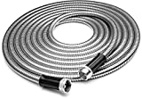 Tiabo Metal Garden Hose 75ft 304 Stainless Steel Super Flexible Cool to The Touch All Weather Hose