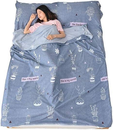Saco de Dormir de algodón y Microfibra, para Interior, Suave, Saco ...