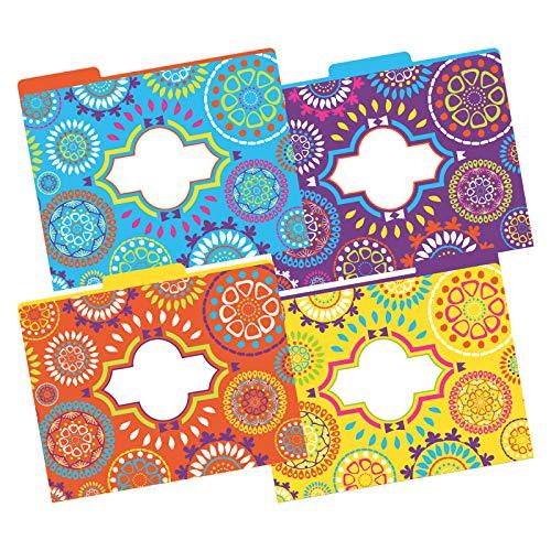 Barker Creek Moroccan File Folders, Letter Size, Multiple Designs, Pack of 12
