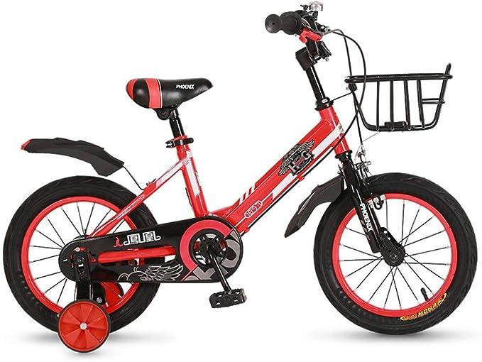 TSDS Bicicleta para niños de 18 Pulgadas Bicicleta de montaña roja/Azul/Amarilla para niños (Color : A): Amazon.es: Deportes y aire libre