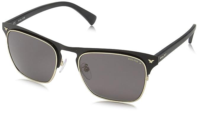 Police - Gafas de sol Rectangulares S8949 Momentum 1, MATT ROSE GOLD & BLACK FRAME