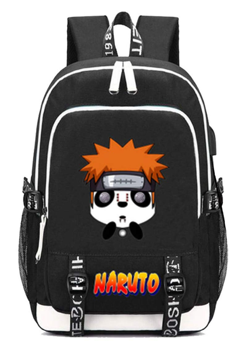 Naruto  1 Cosstars Naruto Anime Rucksack Schoolbag Laptop Backpack with USB Charging Port and Headphone Jack  6