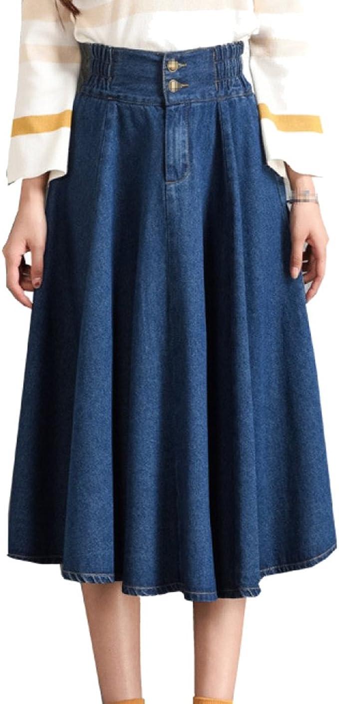 Falda De Mezclilla De Verano Sexy Para Mujer Lady Plus Size ...
