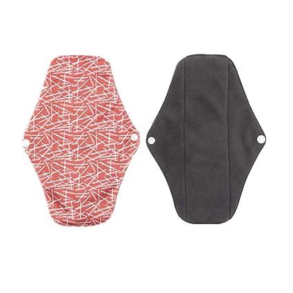 Yardwe Compresas Almohadillas Menstruales Reutilizables Toallas Sanitarias de Bambú Lavable reutilizables