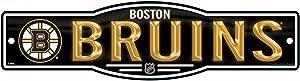 WinCraft NHL Boston Bruins 4''x17'' inch Plastic Street Sign