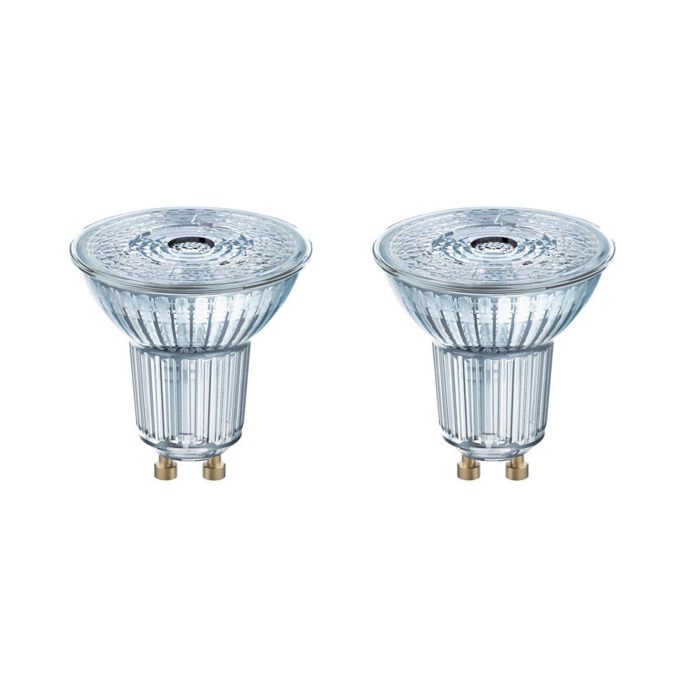 OSRAM LED STAR PAR16 / Spot LED, Culot GU10, 4,3W Equivalent 50W, 220-240V, Angle : 36° , Blanc Chaud 2700K, Lot de 2 piè ces Angle : 36° Lot de 2 pièces LEDVANCE 4052899388130