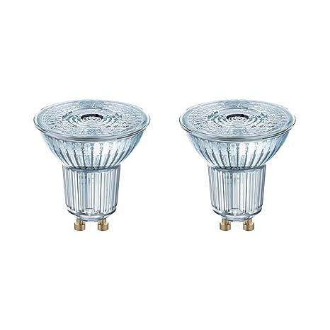 Osram Base Bombilla LED GU10, 4.3 W, Blanco, pck de 2 unidades