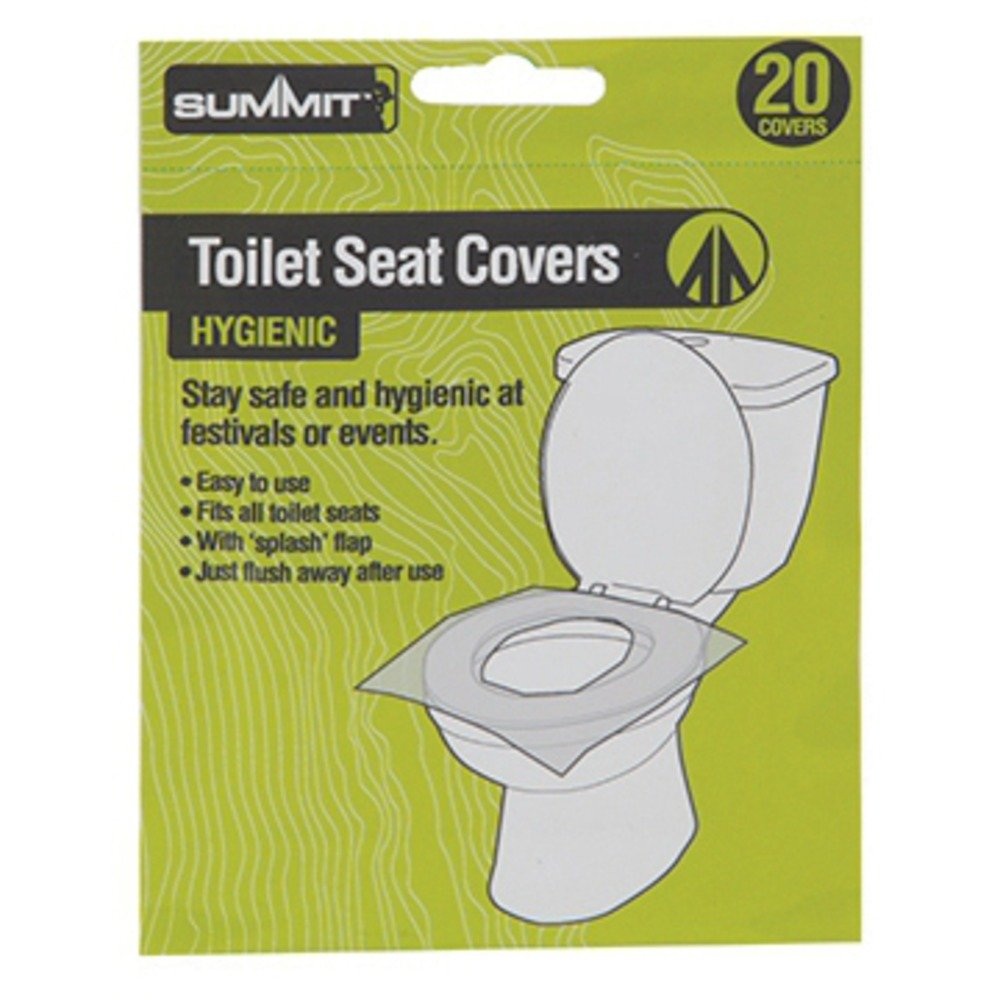 PMS FESTIVAL/CAMPING TOILET SEAT COVERS PK 20 Summit SUM9120