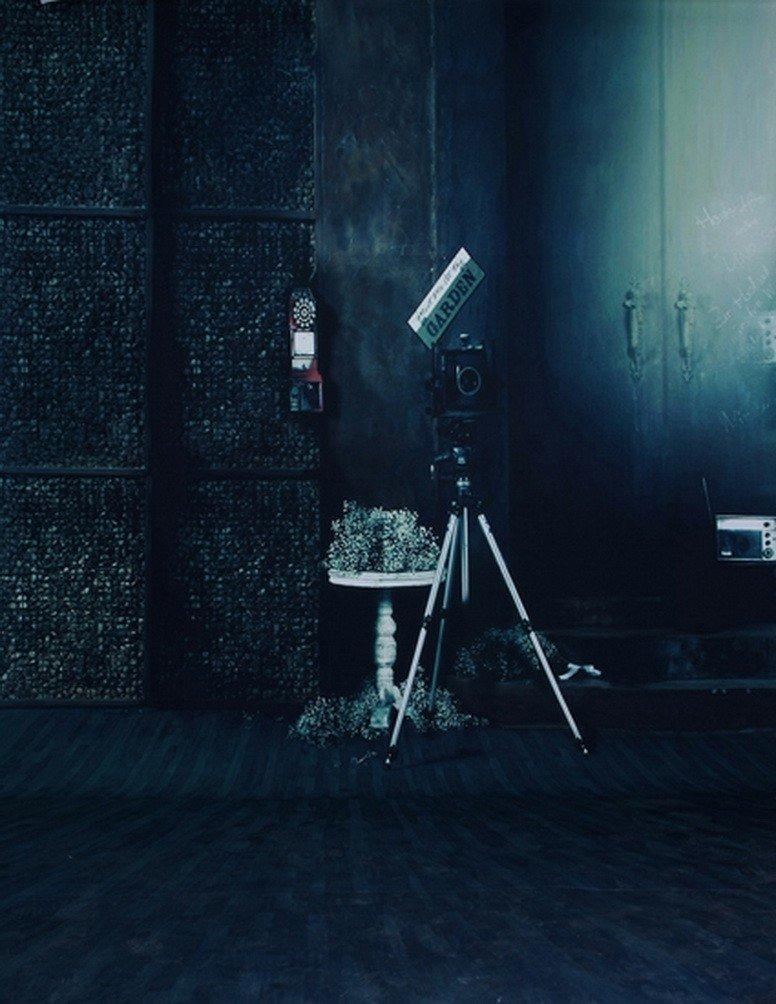 A MonamourダークDimライトブルーインドア部屋Studio小道具5 x 7ft写真ファンBackdropsビニール壁画   B01J86EO3U