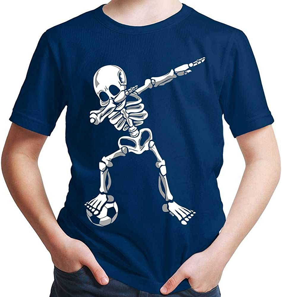 HARIZ Jungen T-Shirt Dab Skelett mit Fussball Dab Dabbing Dance Halloween Plus Geschenkkarten
