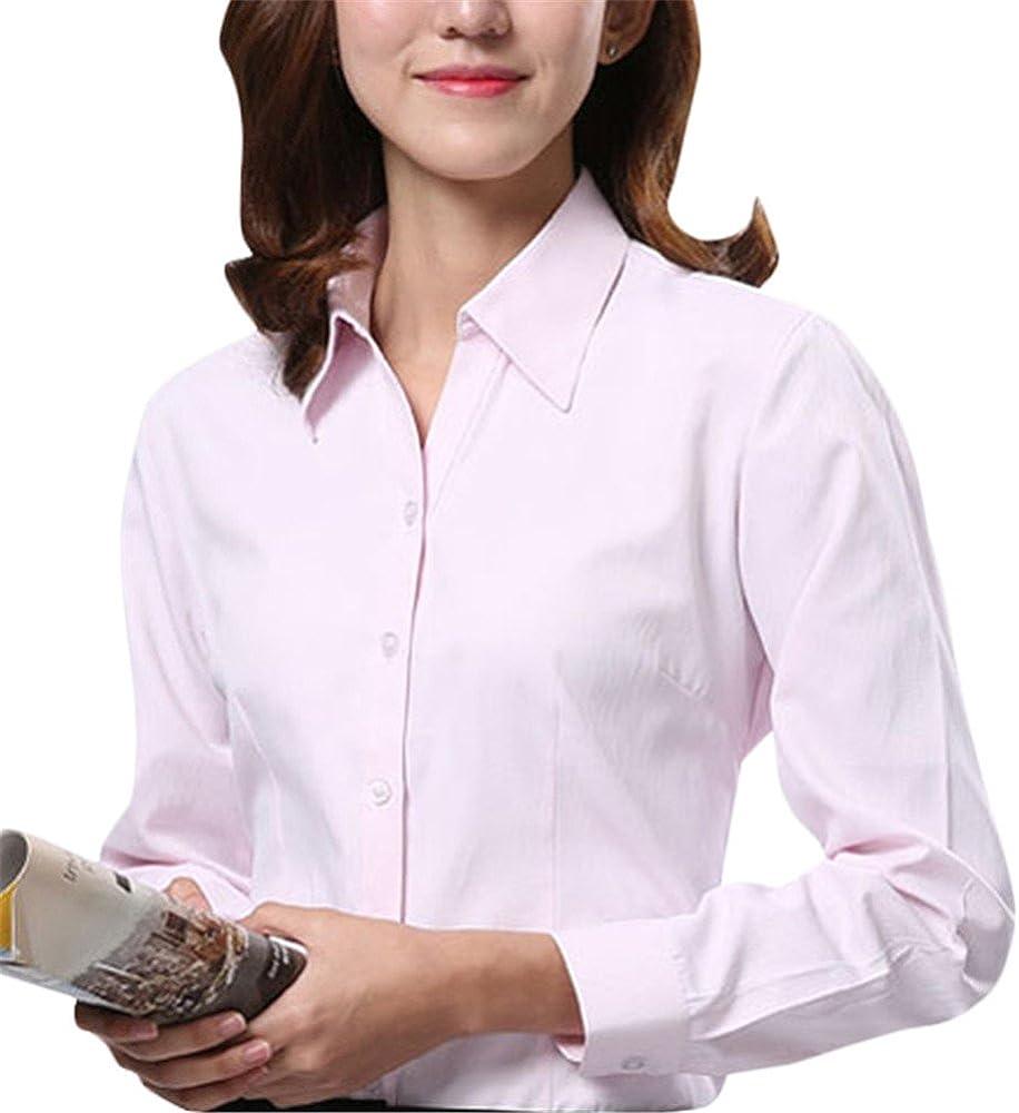 Dioufond - Camisas - para Mujer Rosa: Amazon.es: Ropa y accesorios