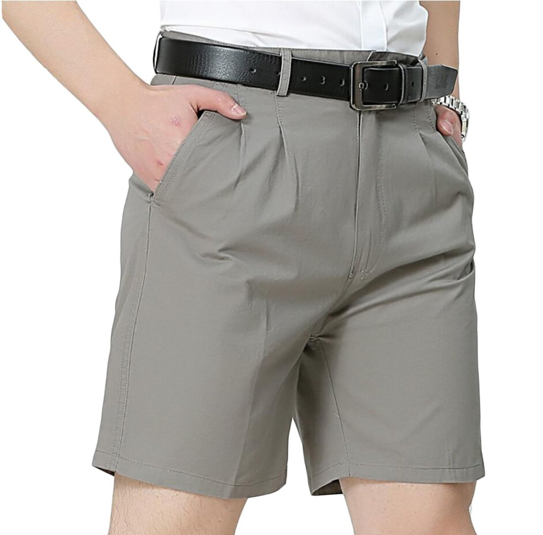 Generic Men's Business Casual Pleated Summer Lightweight Shorts 2 37