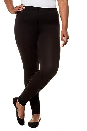baea31c32 Ulla Popken Women s Plus Size Basic Long HIgh Stretch Leggings 701081 at  Amazon Women s Clothing store