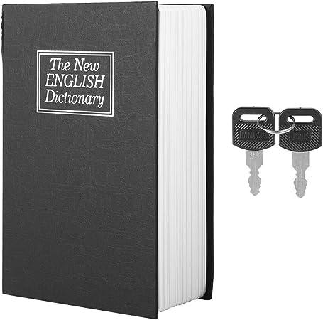 Caja de seguridad para el libro con cerradura con llave, caja secreta de dinero en efectivo oculta del diccionario, cerradura con llave, caja de joyería con 2 llaves: Amazon.es: Bricolaje y herramientas