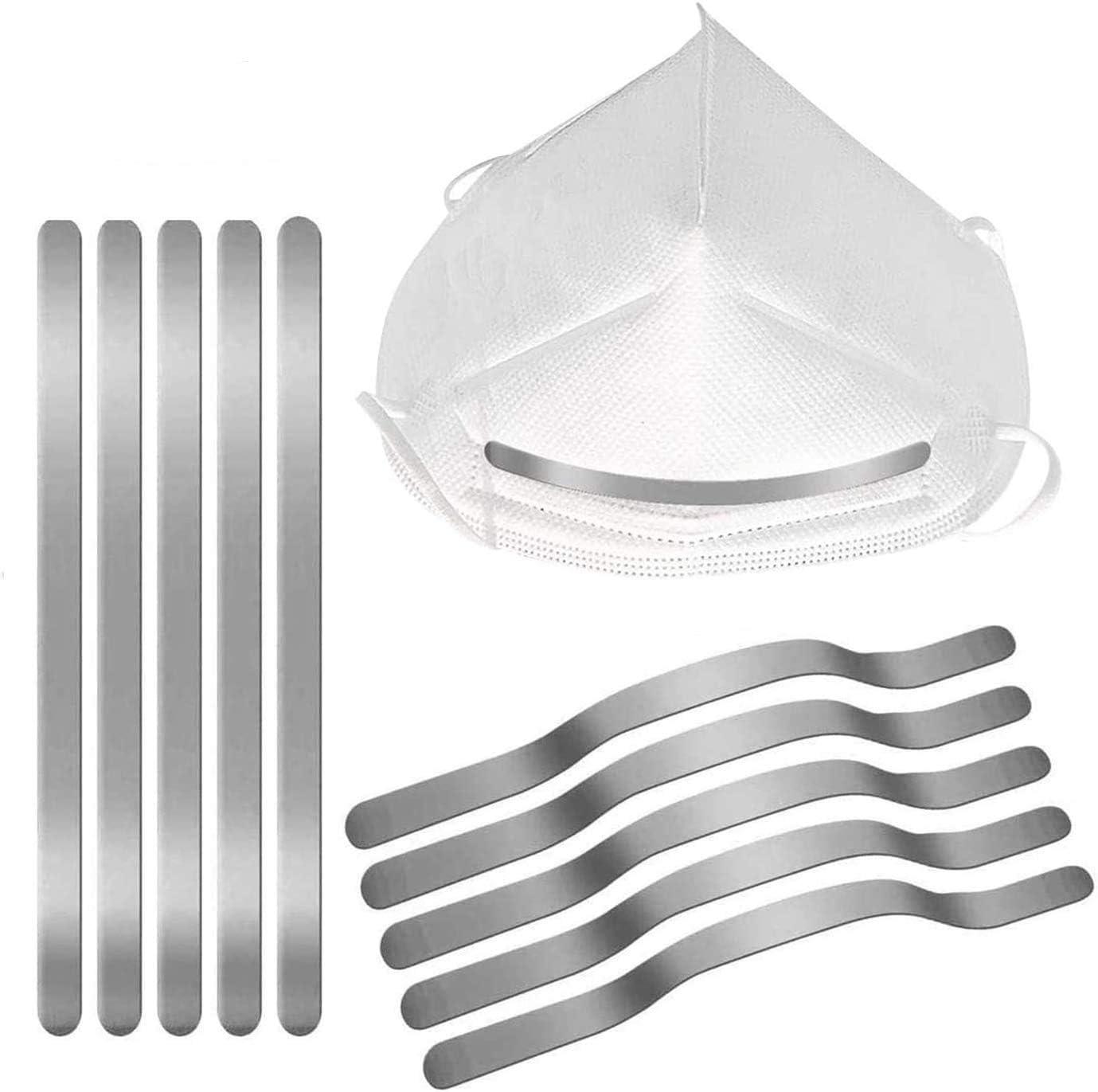 50Pcs Nose Bridge Strips for DIY Mask Metal Aluminum Wire Clips Adhesive