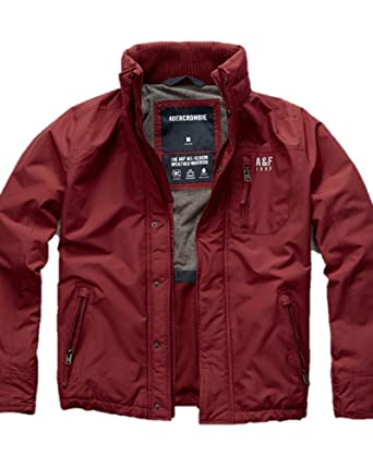 e1608a32a Abercrombie & Fitch New Small S All-Season Weather Warrior Jacket RED Men's  Jacket