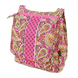 Cotton Cross body bag (Paisley Pink)