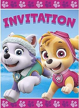 Amazon.com: Niña Paw Patrol 8 invitaciones Pack Skye y ...