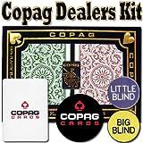 Copag Dealer Kit - Poker Size, Jumbo Index - Green & Burgundy