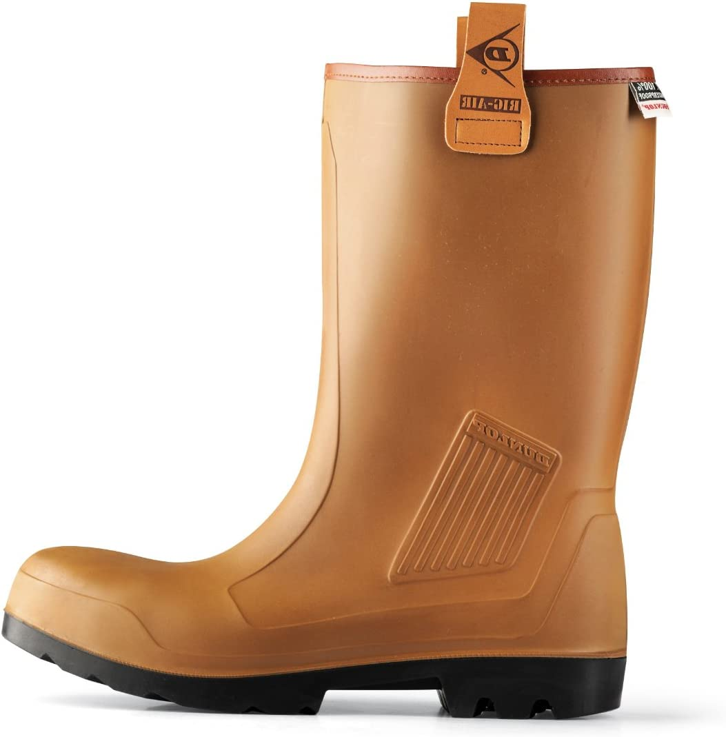 Dunlop Rig-Air Safety Rigger Wellington Steel Toe Cap Fur Lined Waterproof Boots