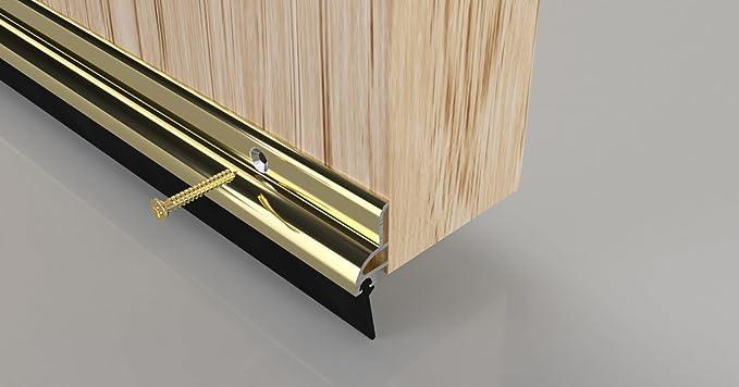 914/mm set de 2/piezas Oro Stormguard 03/am0050914g BDS parte inferior de la puerta burlete para puertas