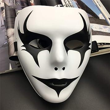 wsjwj Máscaras para Adultos Máscara de Miedo de Halloween Scary Maquillaje Danza máscara Divertida máscara de