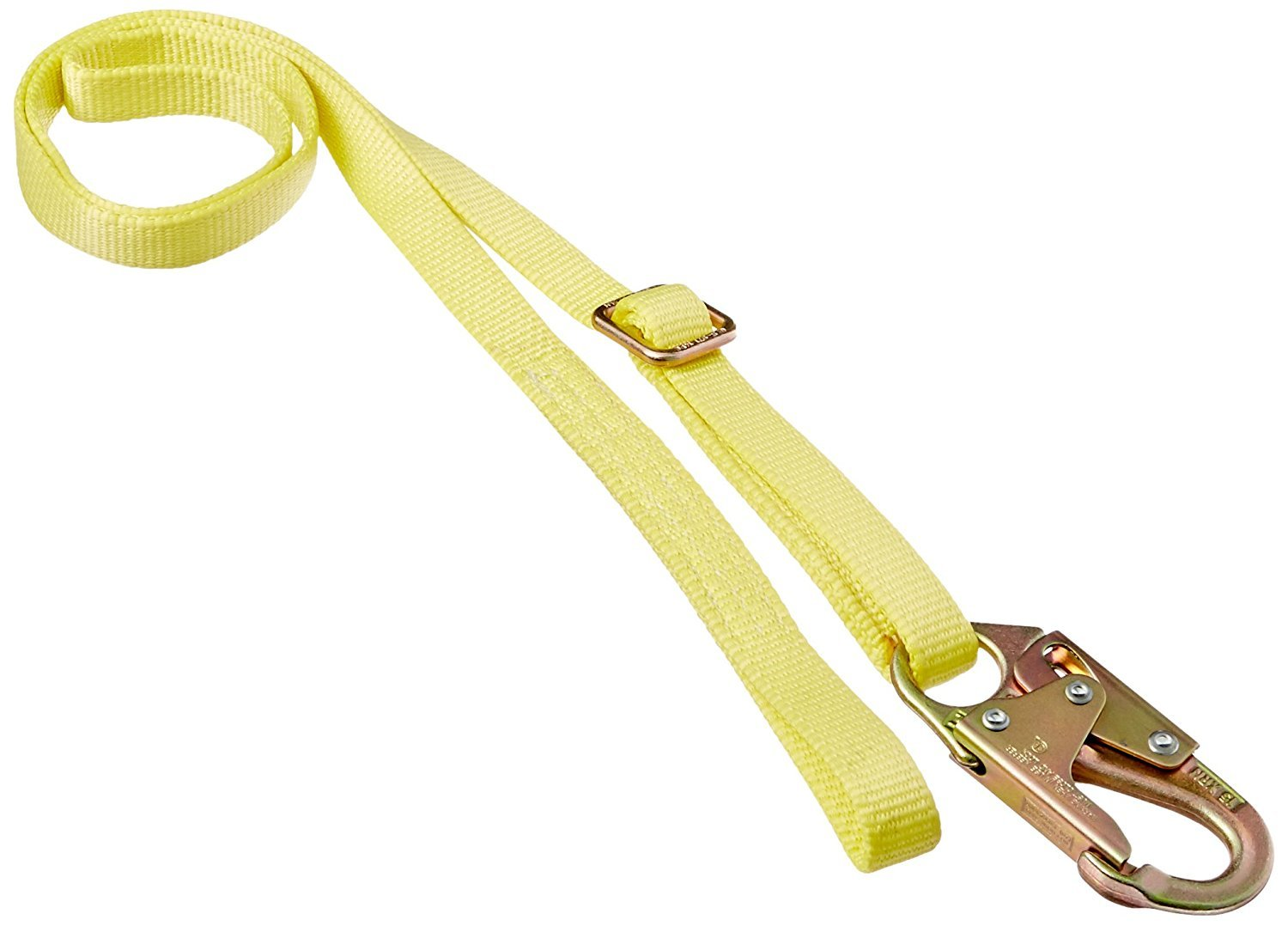 MSA 505217 Web Restraint Lanyard with 36C Steel Snaphook and Web Loop, Nylon Rope, 6' Adjustable Length, ANSI Z359/CSA Z259 Standard