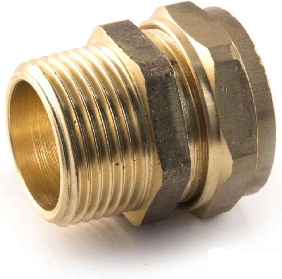 1//2ag Klemmringverschraubung f/ür Kupferrohr /Übergang PEX PE-X Fittings Conex 5 St/ück 15mm