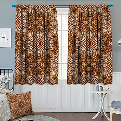Tie Dye Waffle - Chaneyhouse Marine Thermal Insulating Blackout Curtain Marine Shell Objects Tie Dye Fashion Motif with Spiral Smeared Wavy Tones Print Patterned Drape for Glass Door 55