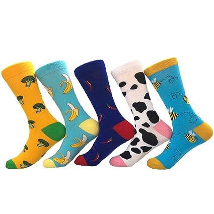 Zhou Yunshan Otoño e Invierno Hombres y Mujeres Calcetines Calcetines Largos Calcetines de algodón Color de